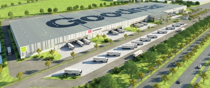 3D Visualisation of Goodman Automotive Warehouse for DB Schenker Logistics, Leipzig, Germany